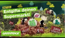 Greenpeace - Entgifte deinen Supermarkt
